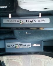 RANGE ROVER EVOQUE DOOR SILL TREAD PLATES FULL SET OF 4 Matt/chrome