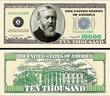 Benjamin HARRISON BILLET 10.000 DOLLARS US Collection President Million Histoire