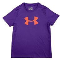 Under Armour Youth Medium Heat Gear Loose Lightweight T Shirt Tee Top Purple