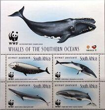 RSA SÜDAFRIKA SOUTH AFRICA 1998 1177-80 ZF WWF Wale Whales Meerestiere Fauna MNH