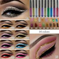 Glitter Liquid Eyeshadow Waterproof Lasting Shimmer Eyeliner Cosmetic 16 Colors