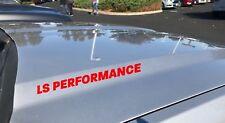 LS Performance Hood Decal Logo Chevy Cadillac Corvette Pontiac GTO Camaro Red