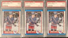 3 CARD LOT 1989-90 O-PEE-CHEE BRIAN LEETCH #136 ROOKIE RC RANGERS @ PSA 9