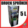 Drucksprüher 5 L liter 2,5 bar mit Manometer, Tragegurt, Einstellbare Düse WOW
