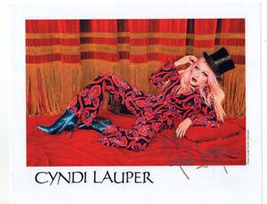 Cyndi Lauper Goonies R Good Enough Original Hand Signed Autograph Photo & COA