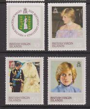 1982 Princess Diana 21st Birthday MNH Stamp Set Br Virgin Islands SG 488-491