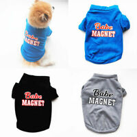 Letter Print Dog T-shirt Vest Pet Clothes Soft Cotton Puppy Chihuahua Costume UK