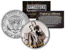 BONNIE CLYDE Gangster Outlaws Robbers JFK Kennedy Half Dollar US Colorized Coin