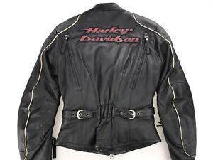 NWT HARLEY DAVIDSON WOMEN'S WIND RIDER MOTORCYCLE LEATHER JACKET XS 97011-06VW