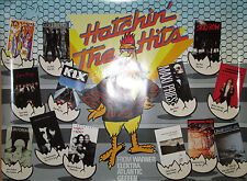 HATCHIN' HITS - 1989 WEA promo poster, 18x24, EX, Lou Reed, Replacements, XTC
