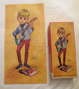 """Rare Vintage 1966 LEE """"The Mods"""" Playing Guitar Jigsaw Puzzle - Complete!"""