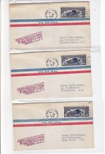 CAM23 N4 New Orleans LOUISIANA 5/1/1928 First Flight 3 Covers NORTH CAROLINA C10