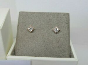 Clogau Gold Silver & Rose Gold Welsh Royalty Stud Earrings RRP £79