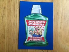 2017 WACKY PACKAGES 50TH ANNIVERSARY BLUE STICKER AMY SCHUMER MOUTHWASH CRAZY TV