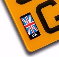 Reino Unido Union Jack Bandera Británica Número De Matrícula Pegatina de vinilo para moto insignia de la etiqueta