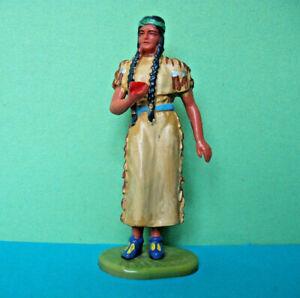 Elastolin Hausser Indianerin Nscho-Tschi BV III grünes Band, 7 cm