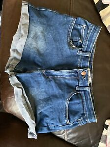 Girls denim shorts age 13-14