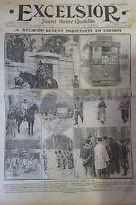 GREVE EN ESPAGNE MOUVEMENT REVOLUTIONNAIRE DE BILBAO  EXCELSIOR 19 /09 / 1911