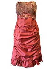 Linea Raffaelli Mujer Reino Unido 6 vestido de diseñador estilo 80s Glam Boda Fiesta Ascot