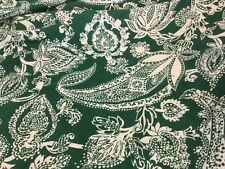 Nouveau Designer Vert Ivoire 100% laine Crêpe Imprimé à gros caractères tissu visible sur la passerelle 138