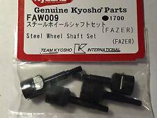 KYOSHO FAZER, RAGE, DIRT HOG, MAD BUG FRONT & REAR STEEL WHEEL SHAFT SET, FAW009