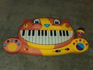 My B.Toys Meowsic Singing Orange Cat Piano Keyboard w/ Microphone Tested Works