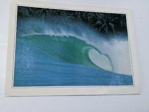 Surf  Surfing postcard card Nias indo Sumatra original Lagundri rare.