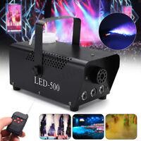 500W  RGB LED Wireless Fog Machine DJ Disco Club Stage Fogger Remot EU W Q R F