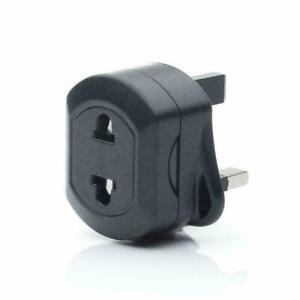 UK 1A Electric Shaver Plug Adaptor Oral-B Toothbrush 2 To 3-Pin Converter black