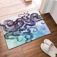 """Octopus Pattern Bath Rug Non-Slip Floor Outdoor Indoor Front Door Mat 16""""x24"""""""