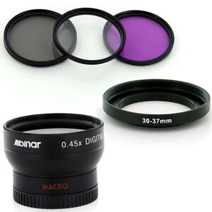 Albinar 30mm Wide Angle Lens, CPL-UV-FLD Filters for Cameras Camcorders, New US