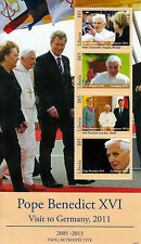 Liberia 2013 MNH Papal Retro Pope Benedict XVI Germany Visit 4v M/S Popes Stamps