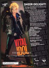 VITAL IDOL / BILLY IDOL__Original 1987 Trade Print AD promo__video advertisement