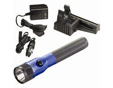 Streamlight Stinger C4 LED Flashlight Blue Anodized w/ PiggyBack Charger 2 Batts