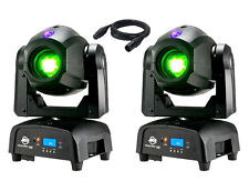 2 X American DJ FOCUS due Spot 75 W LED Moving Head 3 W UV gobo wheel & DMX Piombo