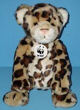 Build a Bear Speical Ed Cheetah Leopard Stuffed Plush WWF Necklace BABW 2002