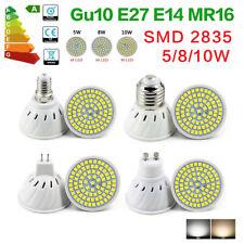 E27 E14 Bombilla Led SMD 2835 proyector 5W 8W 10W lámpara de copa Gu10 MR16 220V