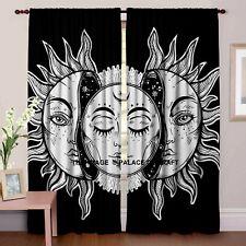 Indian Printed Cotton Sun Moon Curtains Decorative Indian Door Curtain Valances