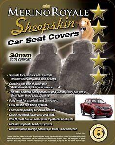 Sheepskin Car Seat Covers Isuzu D-Max , Seat Airbag Safe, Five Colours. 30mm TC