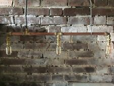 Copper pipe, industrial, vintage, handmade, unique, light fitting