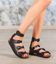 Birkenstock Women's Athen Black Leather Gladiator 32193 Sandals Sz 5 6 10 11 13