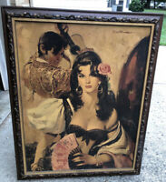 Vintage Circa 1930s Spanish Crusaders Lady Of Seville Rico Tomaso Cheesecake Art