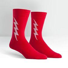 Sock It To Me Men's Crew Socks - Super Hero! Red & White