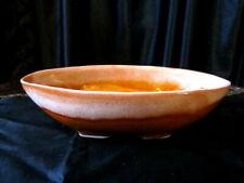 """Vintage Mcm Planter Orange & White Drip Glaze Usa 9.75"""" X 5.25"""" .2.5"""" Tall"""