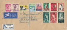 T725 Windhoek SWA Nov 1965 reg air cover Germany;  11 stamps