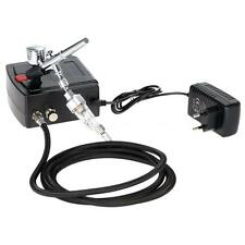 Airbrush & Mini Compressor Kit Dual Action Air Brush Set Tattoo Nail Tool W7U8