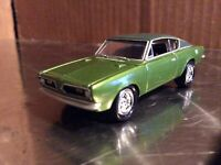 Johnny Lightning dodge 1967 Plymouth barracuda Green mopar or no car 1/64 loose