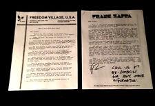 1985/86 FRANK ZAPPA Z PACK AGAINST MUSIC CENSORSHIP + OPPOSING VIEWS BROCHURES