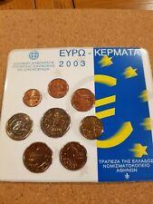 greece 2003 euro coin set