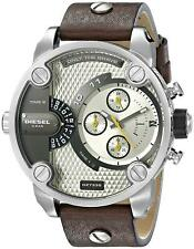 Diesel Little Daddy DZ7335 Grey Dial Brown Leather Men's Watch